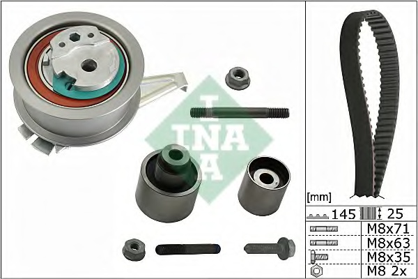 Комплект ГРМ VW Caddy 2.0TDI 15- Golf VII 1.6TDI 2.0TDI 12-